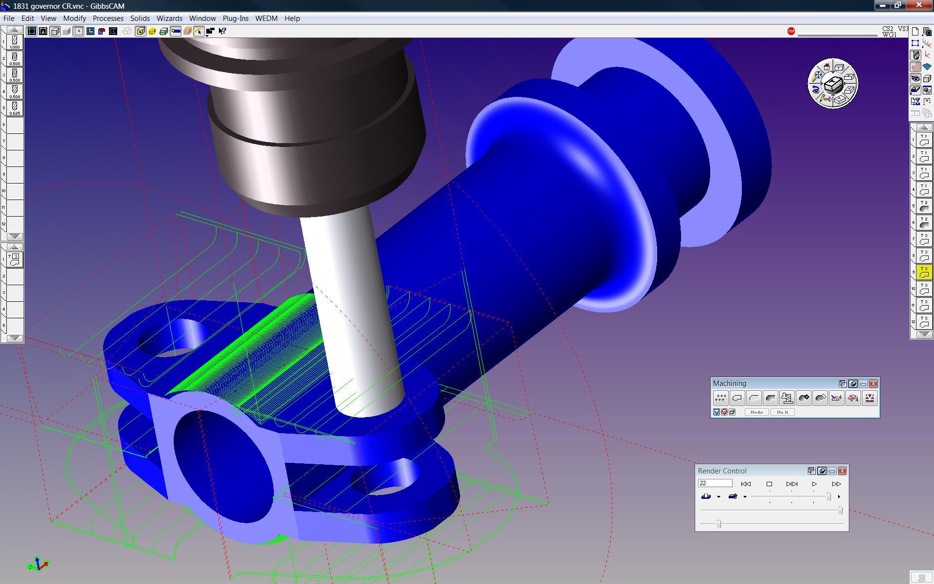 Gibbscam Tool Simulation