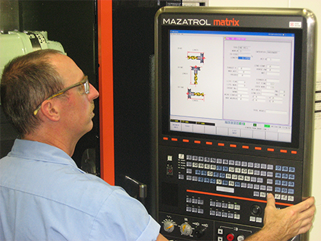 MTM setup on the Mazak Integrex.
