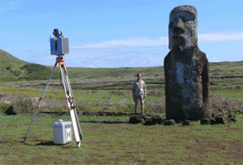 3d scans of the Moai taken across several years with data created in Geomagic 3d scan software