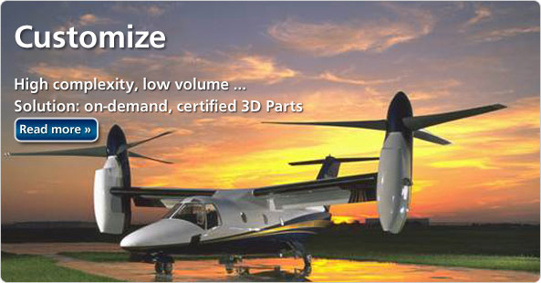 CUstomize - High complexity, low volume...Solution: On Demand certified 3D Parts