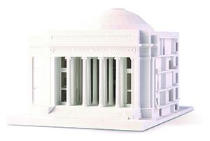 Edificio monocromo impreso en ProJet CJP x60 de 3D Systems