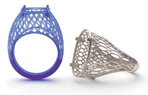 ProJet MJP 3600 Wax Jewelry Parts