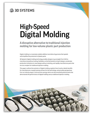 High-speed digital molding white paper