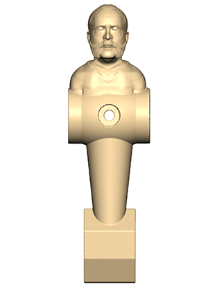Foosball player 3D Scanning and Geomagic Sculpt