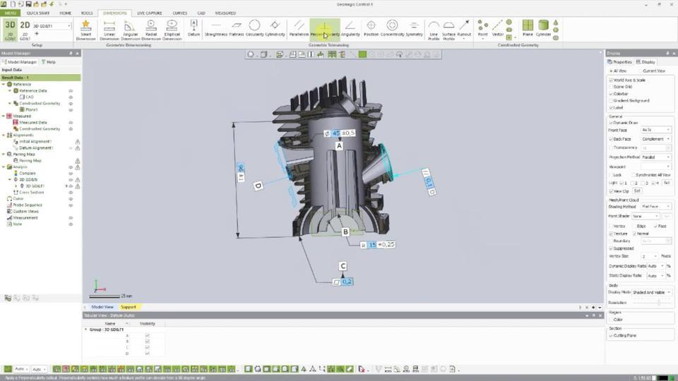 CAD Bemaßung, PMI Support Und Umfangreiche GDu0026T Tools