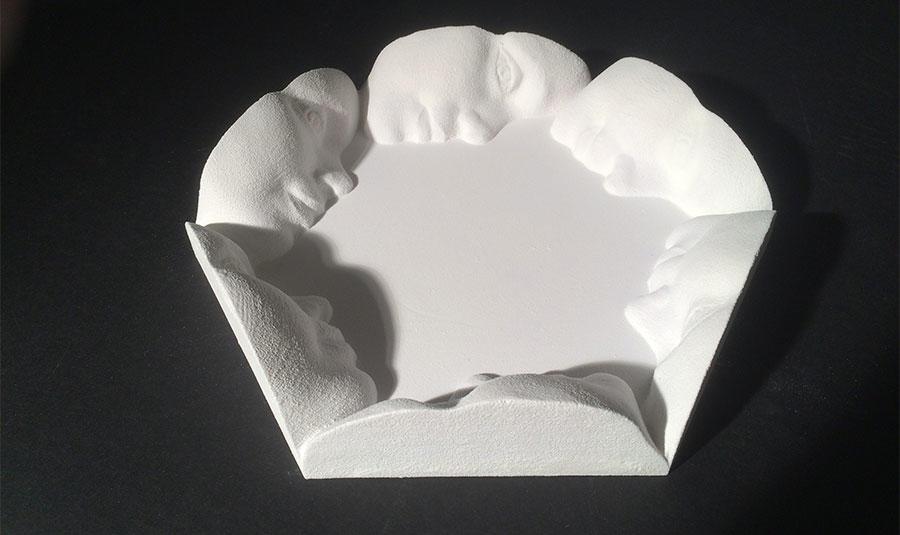 3D printed artwork developed from Sense 3D scans