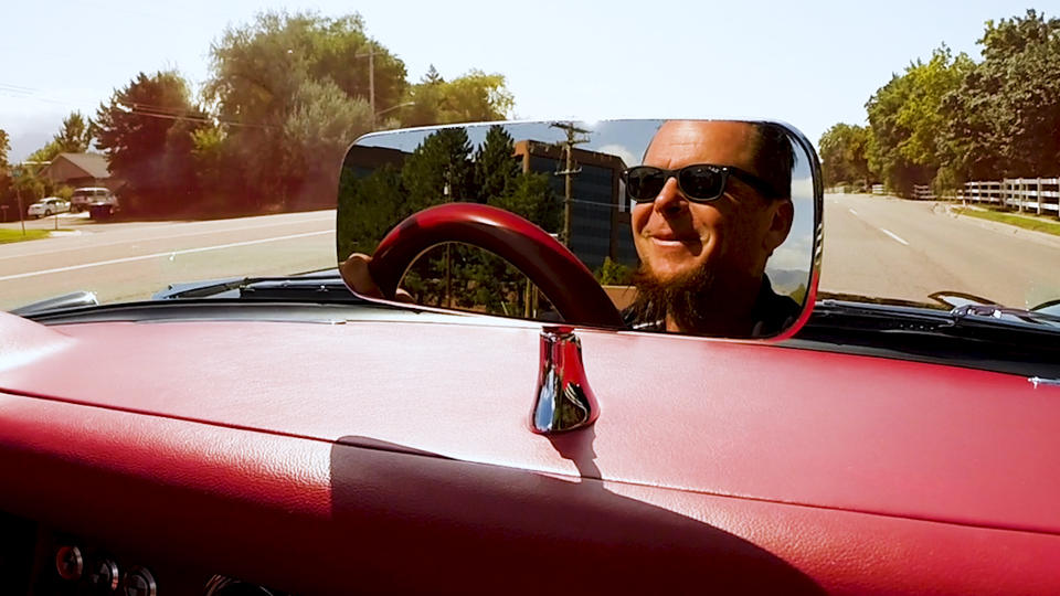 Dave Kindig in his 1957 Corvette
