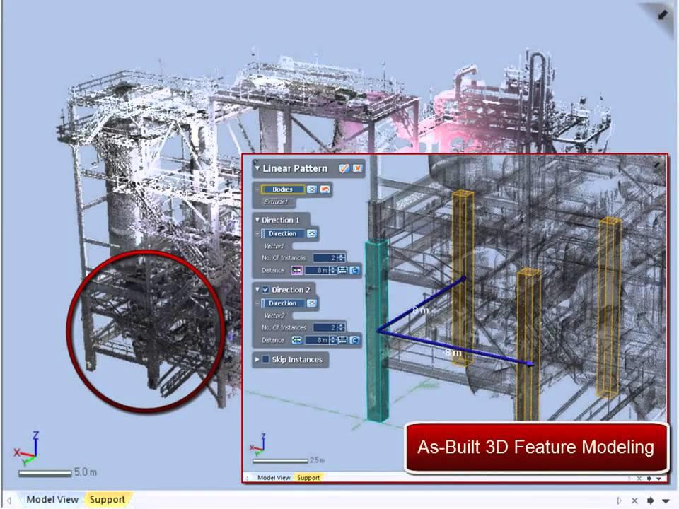3D Modeling from Long Range Scan Data for Facilities Planning Part 1