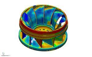 The impeller Scan inside Geomagic Design X
