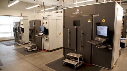 3D Systems' metal additive manufacturing machines at the Customer Innovation Center in Denver, CO