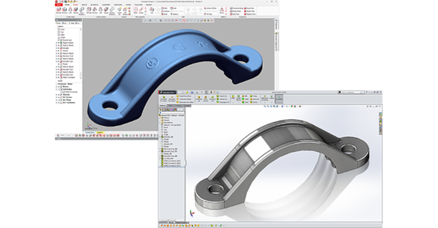 Converting a 3d mesh into a Solidworks solid model with Geomagic Design X