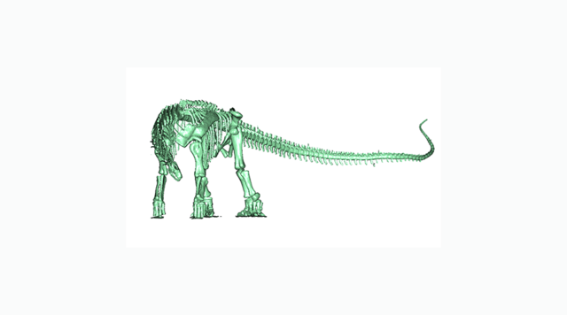 Waking the dead geomagic 3d 3d scanning software enables pre 3d scans of animals skeletons modeled in geomagic wrap deliver accurate 3d data for voltagebd Images