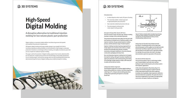 High-Speed Digital Molding | 3D Systems