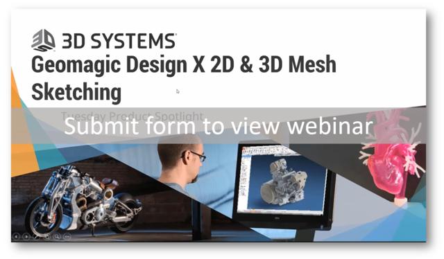 Geomagic Design X™ Product Spotlight: 2D & 3D Mesh Sketching | 3D