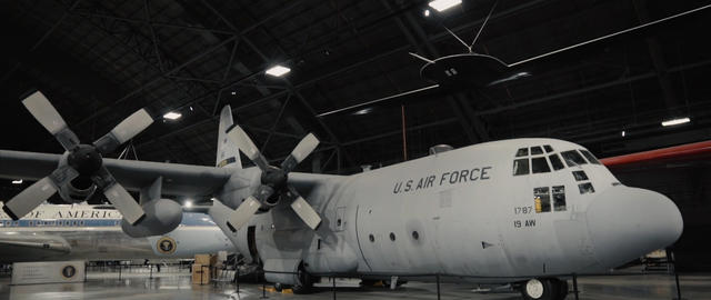 USAF aircraft in hangar