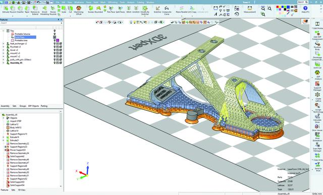 Redesigned Sterling engine model prepared and optimized in 3DXpert® software