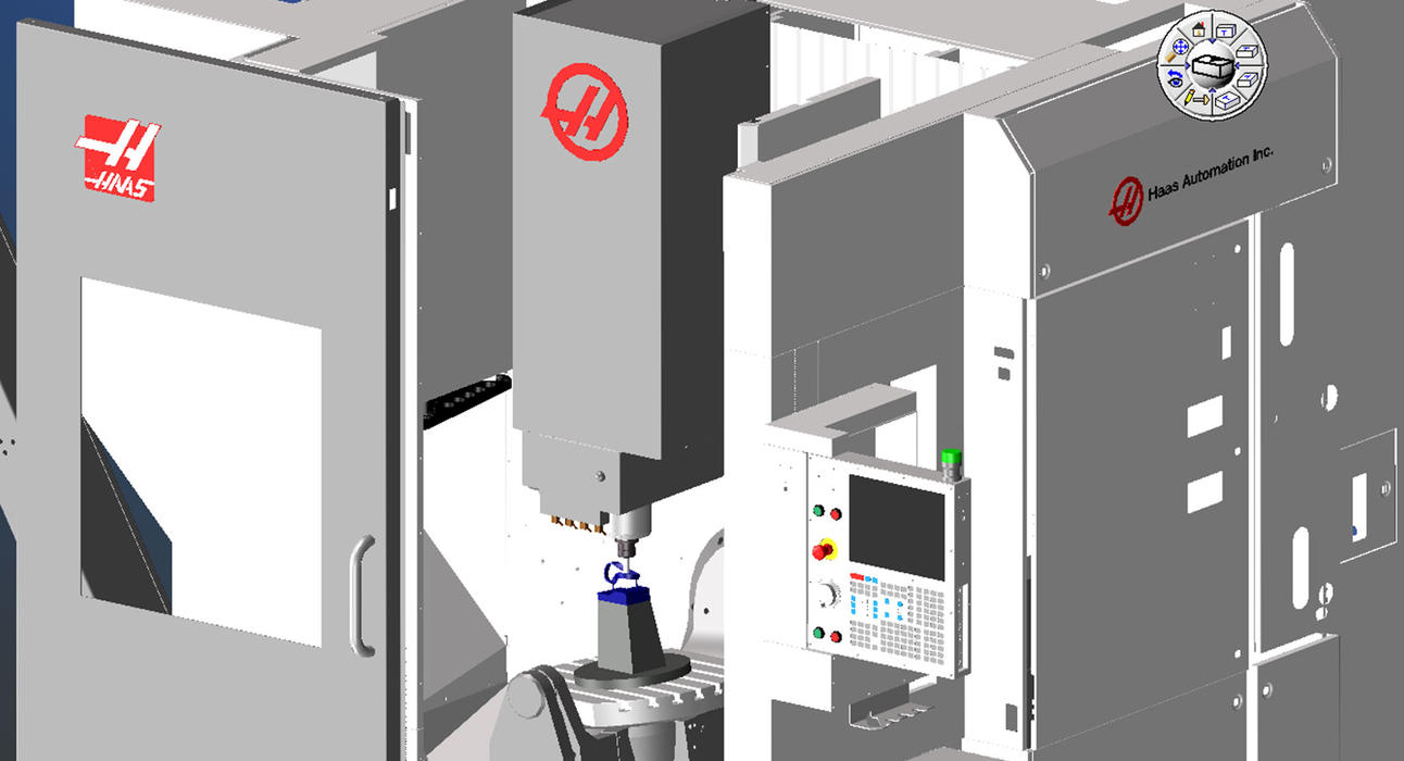 GibbsCAM Machine Simulation on a Haas Machine Tool