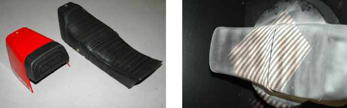 Motorcycle's seat and its scanning process with 3D scanner