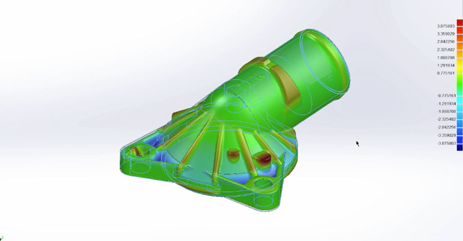 Fulkly functional 3D scan data used in 3D Inspection with geomagic Control