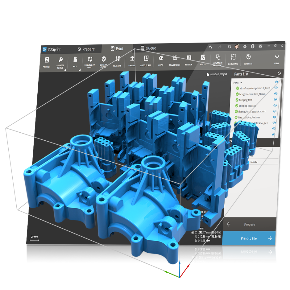 3d Sprint Software For Plastic Additive Manufacturing