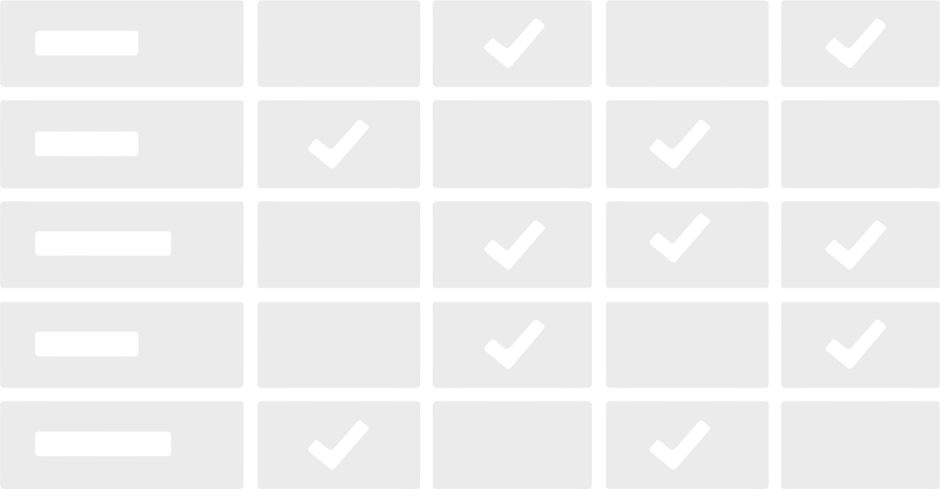 Process comparison chart icon