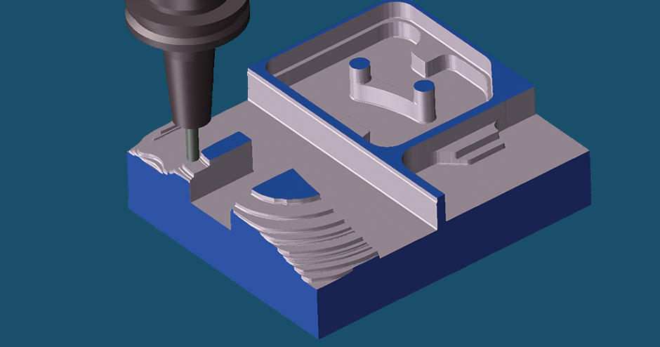 GibbsCAM Production Milling supports 2-axis through simple 3-axis wireframe machining with full functionality
