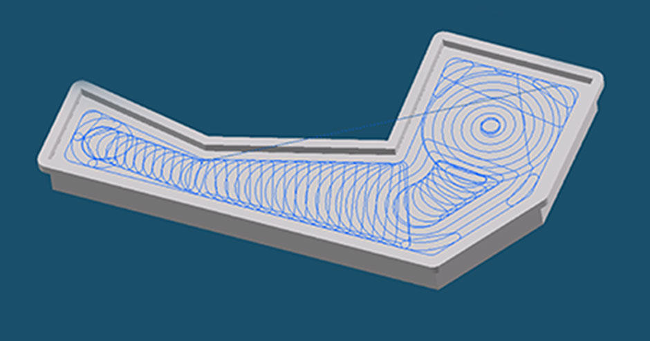 VoluMill for GibbsCAM is an ultra-high performance toolpath (UHPT) option that uses a continuous, high-speed toolpath resulting in an optimized CNC program.