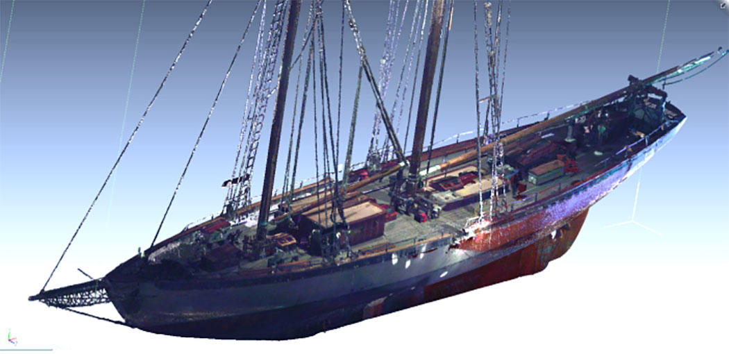Initial main scan data of the Schooner prior to modeling in Geomagic Design X
