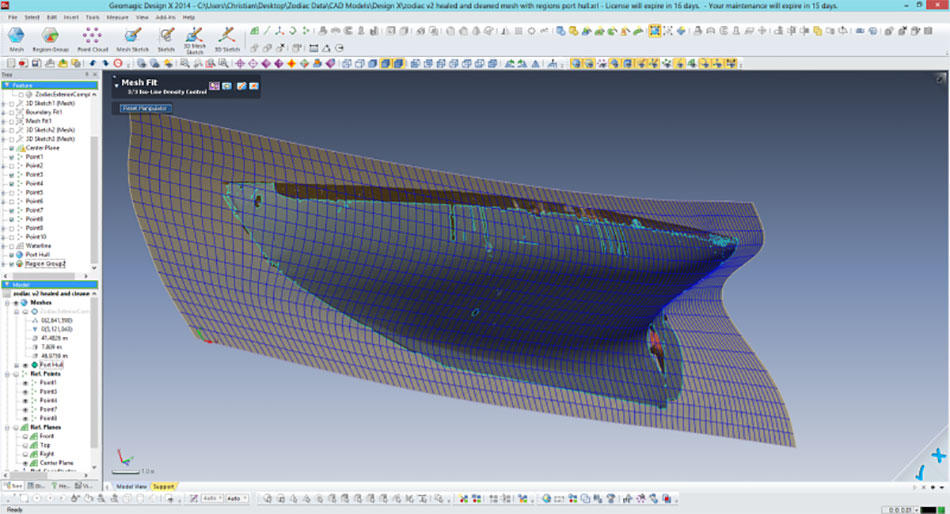 3D scan data going into solid CAD models in Geomagic Design X
