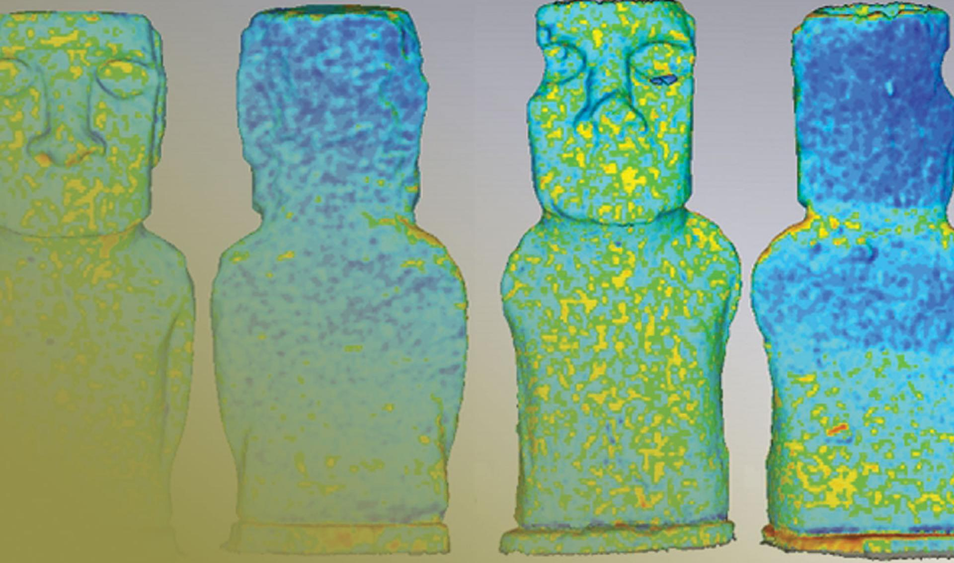 3D Scanning easter island moai with geomagic