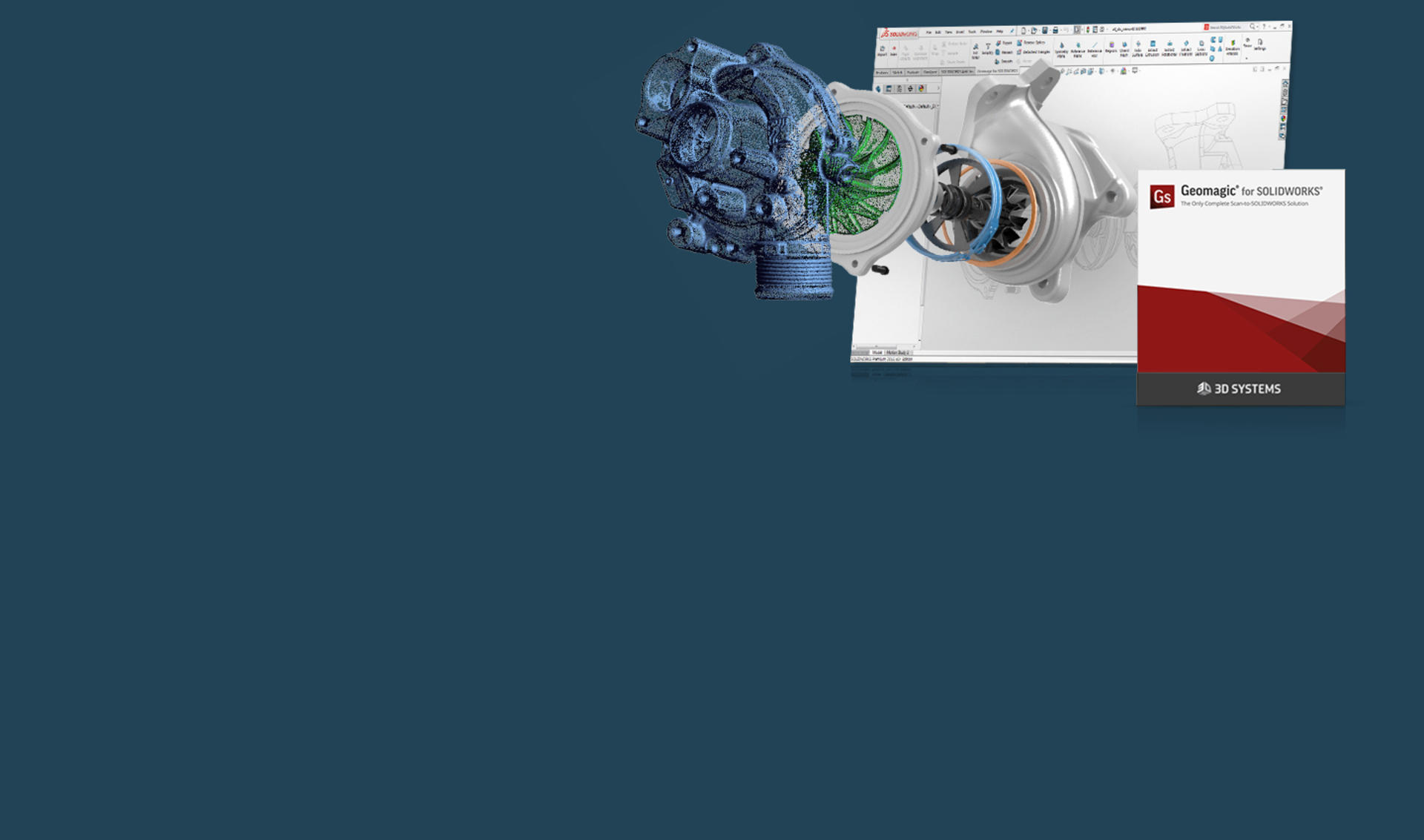 Geomagic for SOLIDWORKS version release homepage banner