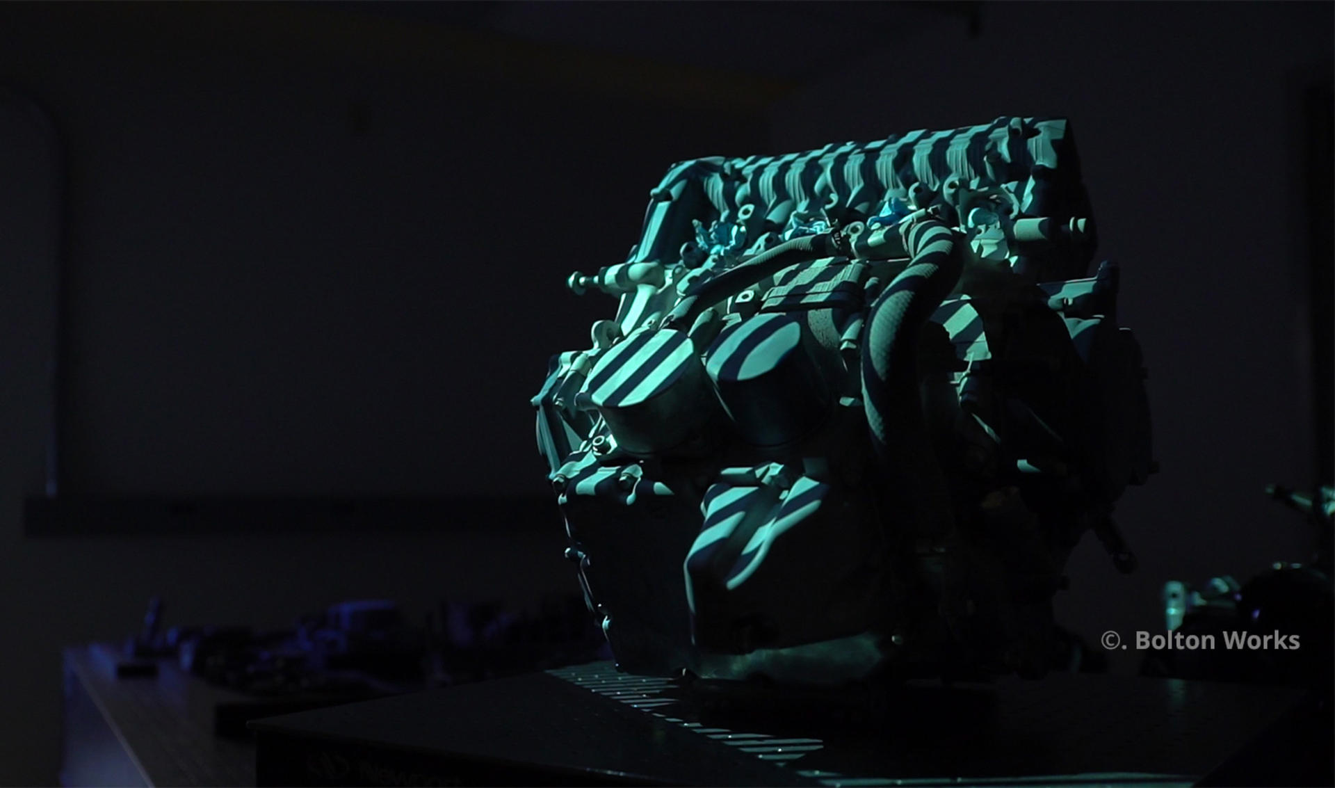 3D scanning an entire motorcycle engine with Geomagic Design X and Geomagic Wrap