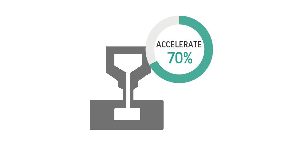 Accelerazione dei tempi di progettazione di stampi e utensili fino a un massimo pari al 70%