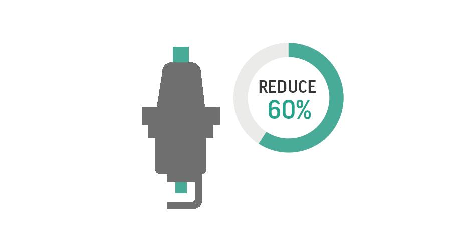 Riduzione dei tempi di progettazione dell'elettrodo fino a un massimo del 60%