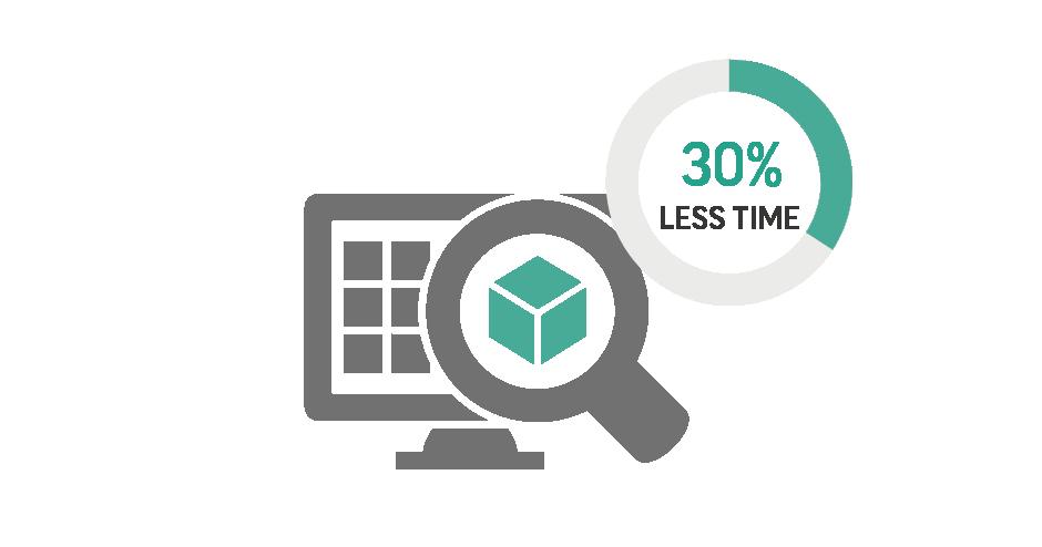 Ispezione delle nuove parti più rapida del 30%