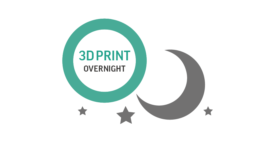 3D print overnight in light-outs conditions