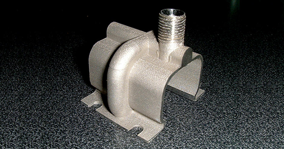 Direct metal-printed parts that make up the hollow 3D manifold  with predetermined steam nozzle positions