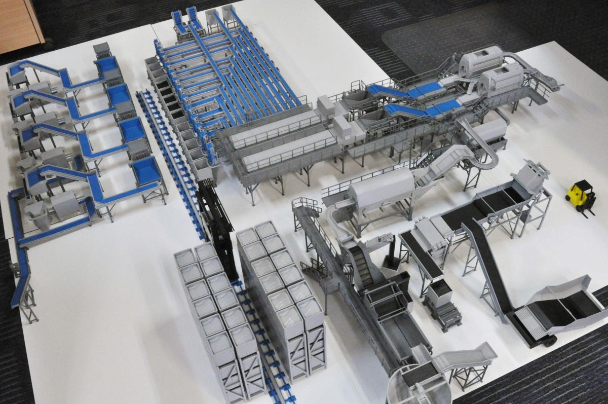 3d blueprint scaled warehouse reproduction shows full for 3d printer blueprints